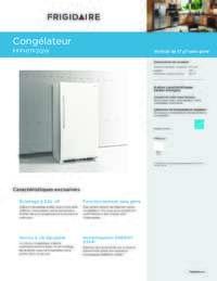 frigidaire fffh17f2qw 34 inch freezer with 16.63 cu. ft