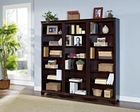 Belcourt ER-BLC-K-OBK72X3-D Bookcase Wall Set with Three 71