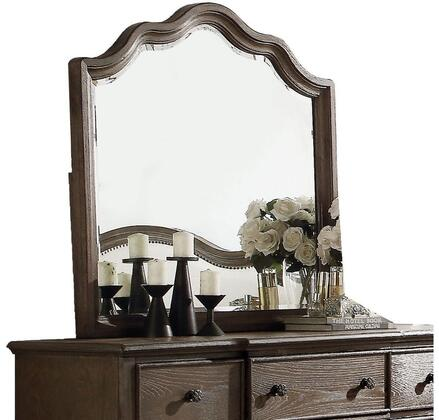 Baudouin Collection 26114 40 inch  x 40 inch  Mirror with Beveled Edge  Mirror  Acacia Wood and Oak Veneer Materials in Weathered Oak