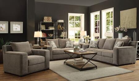 Ushury Collection 52190SLC 3 PC Living Room Set with Sofa + Loveseat + Chair in Grey