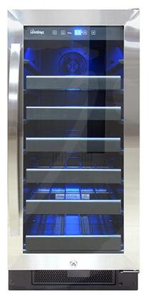 Vinotemp VT-32SBB 15 Inch Built-In and Freestanding Single Zone Wine Cooler with 30 Bottle Capacity