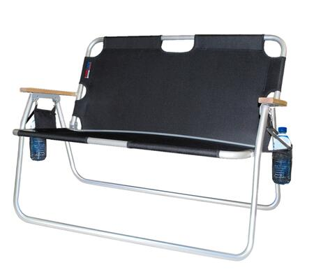 771722DH 44 inch  Tailgater - Two-Person Folding Aluminum Chair in