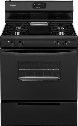 Frigidaire FFGF3012TB 30 Inch Freestanding Gas Range with 4 Sealed Burner Cooktop, 4.2 cu. ft. Primary Oven Capacity, in Black