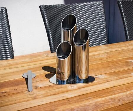 Pipes Collection BB-PM Mini Tabletop Ethanol Fireplace with 3 Reducer Discs  Extinguisher and