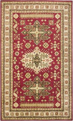 Shisn169600700508 Shine Sn1696-5 X 8 Hand-tufted 100% Semi-worsted New Zealand Wool Rug In Red  Rectangle
