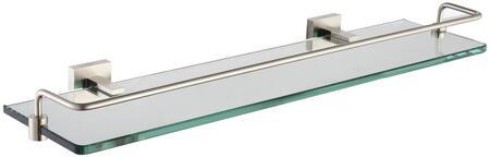 KEA14445BN Aura Series Shelf with Railing  Brushed