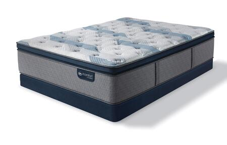 iComfort Hybrid 500820573-FMFLP Set with Blue Fusion 300 Plush Pillow Top Full Mattress + Low Profile