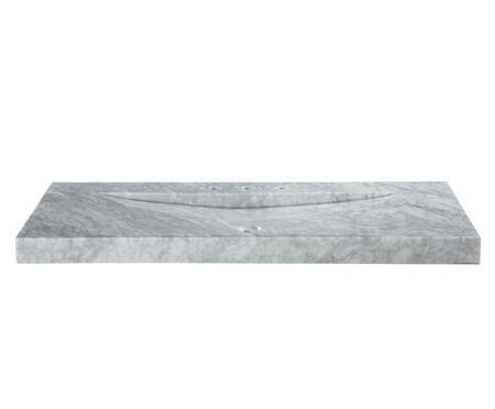 SVT480WT 48-1/8 in. Italian Carrera Marble Vanity Top with Integral Sink Basin in