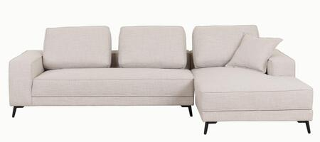 LN-306-BG 113 inch  2-Piece Sectional Sofa with High Quality Fabric Seating and Extra Thick Cushioning in