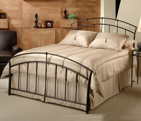 1024bkr Vancouver King Size Panel Bed Set With Rails Included  Tapered Sides  Twisted Spindles And Metal Construction In Brown Powder Coat