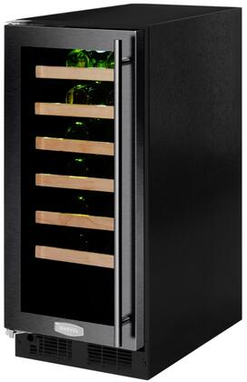 ML15WSG2LB 15 inch  Marvel High-Efficiency Single Zone Wine Refrigerator with Dynamic Cooling Technology  Vibration Neutralization System  Thermal Efficient Cabinet