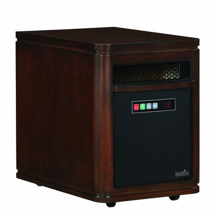 10HM4128-X446 Duraflame Dartmouth Powerheat Heater with 4.453 Cu. Ft. 5200 BTUs 6 InfraRed Quartz Heating Elements Infrared Heating Technology in Cappuccino