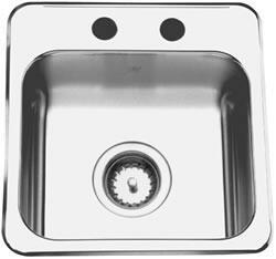 QSL1515/6N/2 15 inch  Stainless Steel Self-Rimming Bar Sink  20 Gauge  2 Faucet