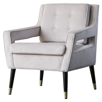 Eberhard Collection 3500062-180 Arm Chair with Fabric Upholstery  Button Tufting and Removable Cushion in Solaria