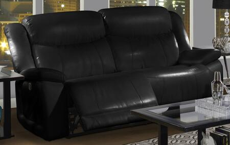 22-324-32-mbk Soho 82.5 Dual Recliner Sofa With Power Recline  Bonded Leather Match  Hardwood Frame  Fiber Fill Backs  Sinuous Spring No Sag Deck And Memory