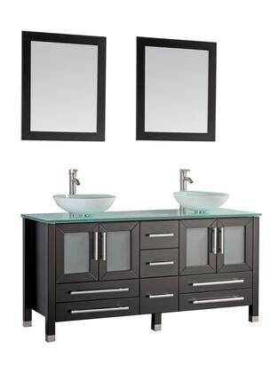 -8119BE Cuba 71 Double Sink Bathroom Vanity Set