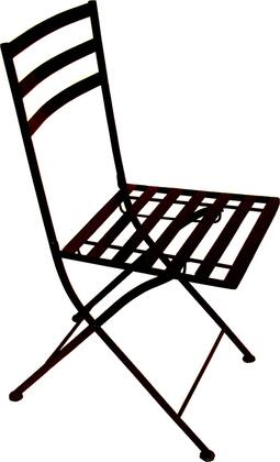 601615 Stone Collection Black Metal Chair