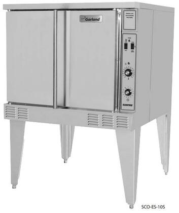 SCO-ES-10S-240/60/3 38 inch  Sunfire Series NSF Certified Electric Convection Oven with 53000 BTU  60/40 Dependent Solid Door  5 Chrome Plated Oven Racks and 2