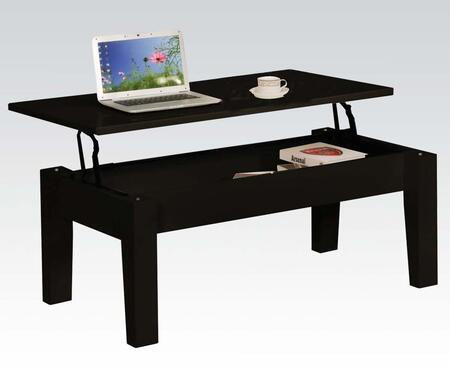 81350 Gideon Coffee Table with Lift Top  MDF Construction and Wooden Frame in Black