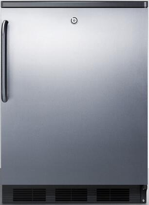 FF7LBLBISSTB 24 inch  FF7BI Series Medical  Commercial Freestanding or Built In Compact Refrigerator with 5.5 cu. ft. Capacity  Lock  Adjustable Spill Proof Glass