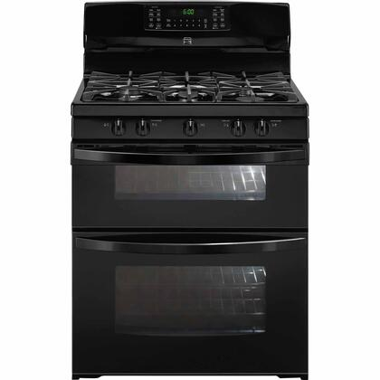 78049 30 Freestanding Double Oven Gas Range with 5 Burners  5.9 cu. ft. Total Capacity  Continuous Cast Iron Grates and Convection Oven in