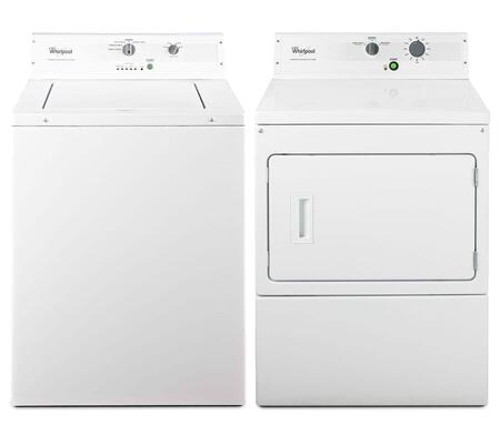 "Commercial White Top Load Laundry Pair with CAE2793BQ 27"""" Washer and CGM2793BQ 27"""" Non-Metered Gas"" 344944"