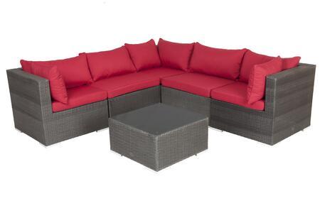 62173 Sino Wicker 6-Piece Sofa