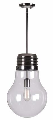 93395AB Edison 1 Light Pendant in Antique Brass