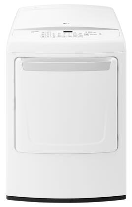 "DLG1502W 27"""" Energy Star Qualified Front Load Gas Dryer with 7.3 cu. ft. Capacity  8 Drying Programs  Sensor Dry System  SteamFresh Cycle  Wrinkle Free Cycle"" 550938"