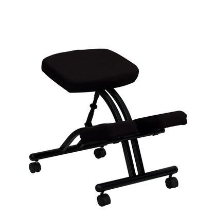 WL-1420-GG Mobile Ergonomic Kneeling Chair in Black