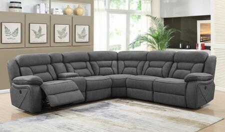 Camargue Motion Collection 600370+600370AC 4-Piece Sectional Sofa with Left Arm Facing Power Reclining Loveseat  Wedge  Armless Chair and Right Arm Facing