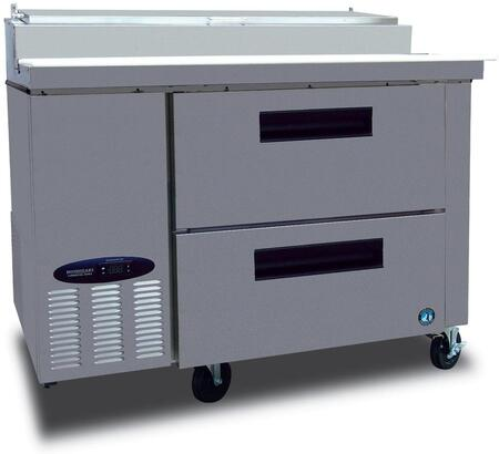 "CPT46-D 46"""" Commercial Series Pizza Prep Table with 2 Drawers  11 cu. ft. Capacity  Stainless Steel Exterior  14 Gauge Stainless Steel Drawer Slides"" 701622"