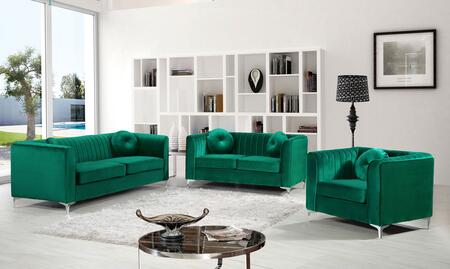 Isabelle Collection 739643 3-Piece Living Room Sets with Stationary Sofa  Loveseat and Living Room Chair in