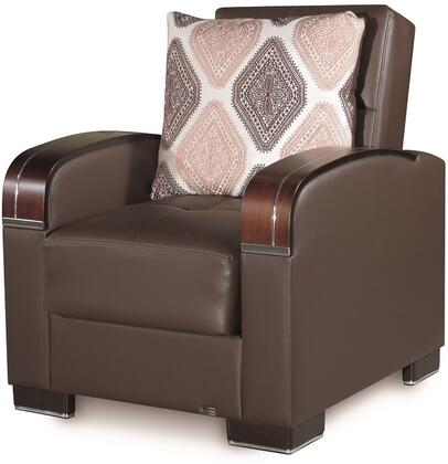 Mobimax Collection MOBIMAX ARM CHAIR BROWN PU 27-450 35
