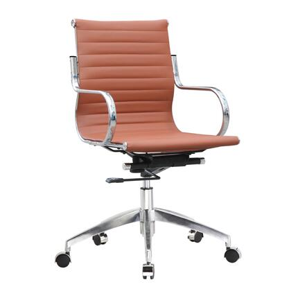 FMI10226-light brown Twist Office Chair Mid Back  Light