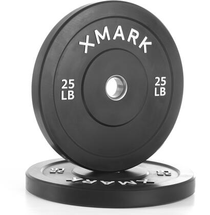 XM-3385-25-P XMark 25 lbs. Bumper Plates with Stainless Steel Inserts