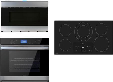 3 Piece Kitchen Appliance Package with SDH3652DB 36