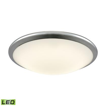 FML4550-10-15 Clancy Round LED Flushmount In Chrome And Opal Glass -