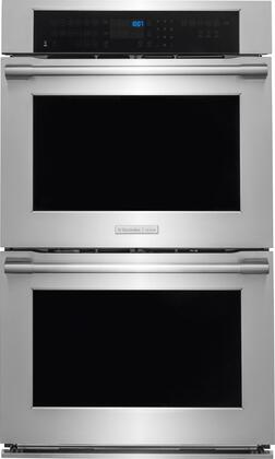 E30EW85PPS 30 inch  Electric Double Wall Oven with Perfect Taste  Dual Convection  Multi-Stage Cooking  Perfect Taste  Temp Probe and Self-Cleaning in Stainless