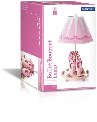 Guidecraft G88507 19 inch  Table Lamp with On and Off Switch  Hand Painted and Ballet Theme in