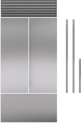 Stainless Steel Door Panel for 42 French Door RefrigeratorFreezer with Tubular Handle 1 Door and 1 Handle Set