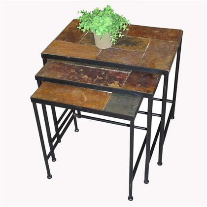 601609 Stone Collection 3 Piece Nesting Tables with Slate