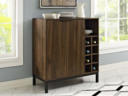 BU34COBCDW Modern Bar Cabinet Buffet with Wine Storage in Dark