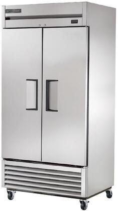 T-35-HC Commercial 2-Section Reach-In Refrigerator with 6 PVS Coated Wire Shelves  R290 Hydrocarbon Refrigerant  Aluminum Interior and Sides  in Stainless