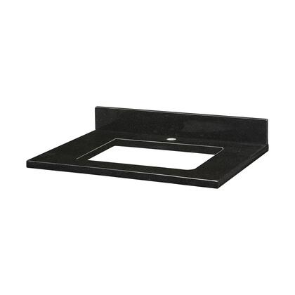 GRUT25RBK1_Stone_Top__25inch_for_Rectangular_Undermount_Sink__in_Black_Granite_with_Single_Faucet