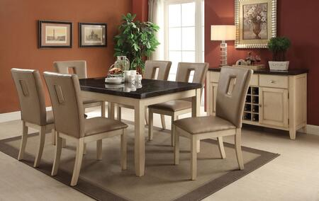 Faymoor Collection 717558TCS 8 PC Dining Room Set with Dining Table + 6 Side Chairs + Server in Antique White