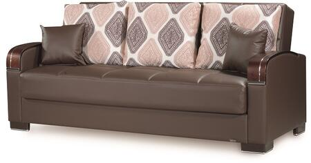 Mobimax Collection MOBIMAX SOFABED BROWN PU 27-448 87