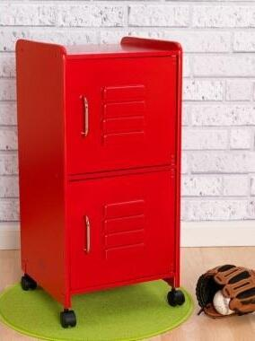 14322 Medium Locker WIth 2 Separate Storage Compartments  Included Wheels & In