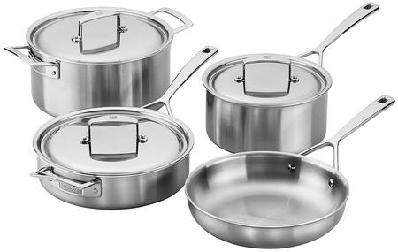 Zwilling 66080-001 Aurora 5-Ply Stainless Steel 7-Piece Cookware Set (Gas  Electric  Induction  Ceramic And Halogen Cooktops