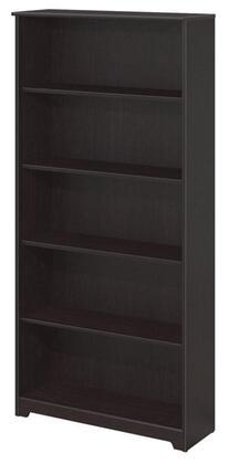 WC31866-03 Cabot Collection 5 Shelf Bookcase in Espresso Oak